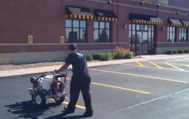 Parking Lot Line Striping for Chicago, St. Louis and Milwaukee by Ace of Spray